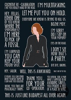 Black Widow poster by MacGuffin Designs / britishindie - Marvel Universe Marvel Avengers, Marvel Comics, Avengers Quotes, Marvel Quotes, Marvel Funny, Marvel Memes, Avengers Poster, Widow Quotes, Dc Comics