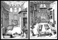 Bartolomeo Scappi, cucine cinquecentesche.