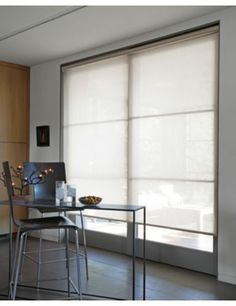 Roller shades on a sliding glass door indoor home decor for Smith and noble bamboo shades