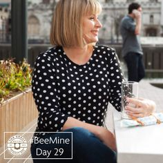 #BeeMine day 29, a spotty Jersey version of the silk woven tee from my book Fashion with Fabric