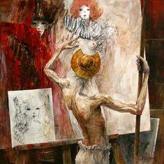 ''L'oeuvre dans l'atelier'' Marcel Nino Pajot.