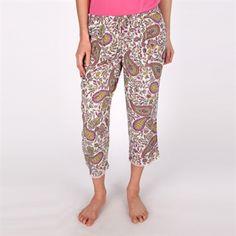 Kensie Printed Woven Sleep Capri #VonMaur #Kensie #PaisleyPrint #Capri #Pajamas