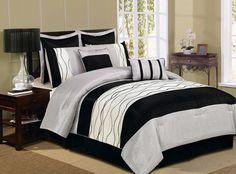 12pc Silver/Black GLD Luxury Size: Cal King Sheet Set Color: Light Blue