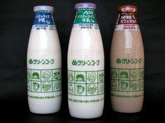 グリーンコープ 牛乳、カフェミルク