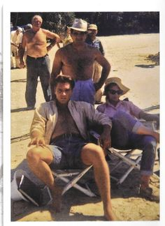 On location in Florida. Elvis (Toby Kwimper) and Anne Helm (Holly Jones) sitting back in the shade relaxing in between takes