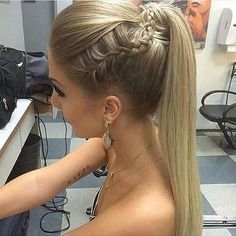 Style hair for night