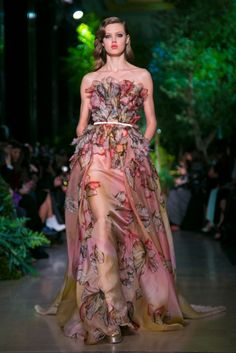 A look from the Elie Saab Spring 2015 Couture collection.