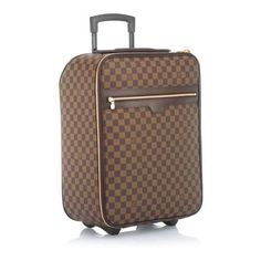 Louis Vuitton Limited Edition Damier Canvas Pegase 50 Luggage ❤ liked on Polyvore