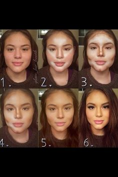 Make up tips for a round face. Make up tips for a round face. Beauty Make Up, Hair Beauty, Beauty Secrets, Beauty Hacks, Beauty Products, Beauty Care, Make Up Tricks, Make Up For Dummies, How To Make Up