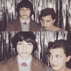 """- Stranger Things (@eggosandcontemplation) en Instagram: """"• what happens at the snowball stays at the snowball • BTS♥️ • #milliebobbybrown #finnwolfhard…"""""""