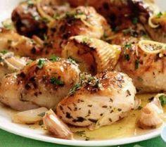 Pui cu lămâie, usturoi și verdețuri la cuptor....start cooking! Chicken Wings, Food To Make, Recipies, Meat, Shops, Random, Recipes, Tents, Retail