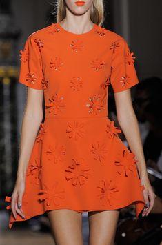 John Galliano at Paris Fashion Week Spring 2014 - Details Runway Photos Orange Fashion, Colorful Fashion, Vogue, Orange Is The New Black, John Galliano, Chanel, Orange Dress, Looks Style, Beautiful Outfits