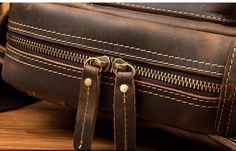 Vintage Leather Sling Backpack for Men