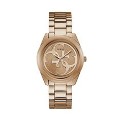Rose Gold-Tone Quattro G Analog Watch at Guess Casual Watches, Cool Watches, Watches For Men, Guess Watches, Stainless Steel Watch, Stainless Steel Bracelet, Kate Spade New York, Guess Jeans, Gold Watch