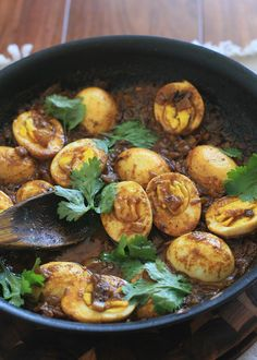 Indian Egg Curry! Gopika always made this for events because it was so easy. It's one of my favorite dishes.