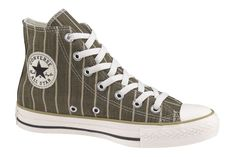 Converse Chuck Taylor All Star Strip Hi-Top Sneakers (Olive/White) -- I've always been partial to green. I had a pair of these in blue pinstripes once.