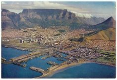 view of Cape Town harbour in How has Cape Town been depicted visually over time? In the December 2014 Molo: Picture Imperfect African Vacation, Cape Town South Africa, The Beautiful Country, African Safari, African History, Live, Old Photos, City Photo, Places To Visit