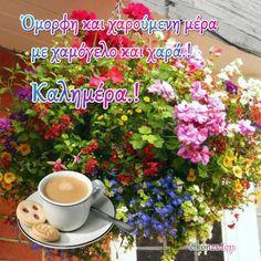 Εικόνες Τοπ:Όλη η ομορφιά χρωμάτων σε μια καλημέρα.! - eikones top Good Morning World, Good Morning Gif, Happy Day