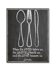 Chalkboard Kitchen Printable Art  Bless by RusticRosebudDesigns, $3.50