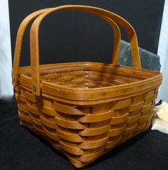 12 Longaberger Basket 1992 with Liner by Goldenshoestrings on Etsy, $59.00