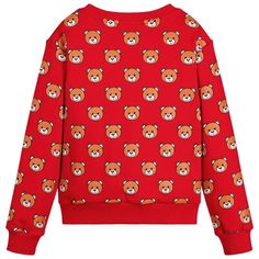 d2f8605f40d Moschino Kids Red Teddy Bear Sweatshirt- Size 8  Moschino Red Teddy Bear