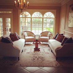 Zen formal living room
