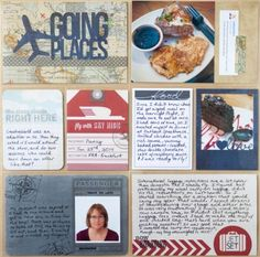 Scrapbook Layout from Scrapbook Update | Going Places #Silhouette #ProjectLife