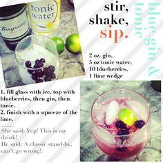 stir, shake sip: blue gin & tonic!