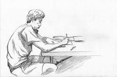 Título: El economista Autor: Hugo Silva Técnica: Dibujo a lápiz