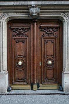 Furniture, Artistic Brown Teak Wood Front Door With Classic Carving Design: Extraordinary Design Of Front Door Design