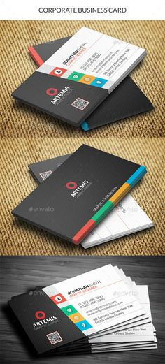 Business card design suitable for companies or personal use. Download here: http://graphicriver.net/item/corporate-business-card/11015558
