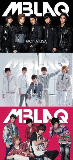 """MBLAQ takes on three different looks for the album jackets of Japanese single """"Mona Lisa"""""""
