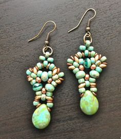 women jewelry earrings handmade beaded drop dangle boho by fatash1