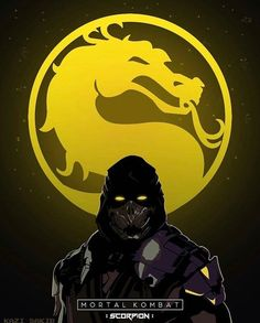 Mortal Kombat Scorpion By kzsakib Raiden De Mortal Kombat, Art Mortal Kombat, Mortal Kombat Scorpion, Reptile Mortal Kombat, Skorpion Mortal Kombat, Zombies, Mortal Kombat X Wallpapers, Dragons, Les Reptiles