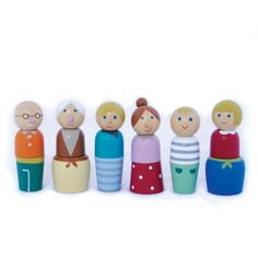 Wooden doll family, with magnets