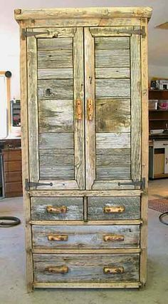 Barn wood dresser. :) For the most rustic of homes.