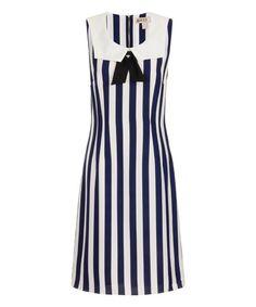 Look what I found on #zulily! Blue & White Sally's Sailor Midi Dress #zulilyfinds