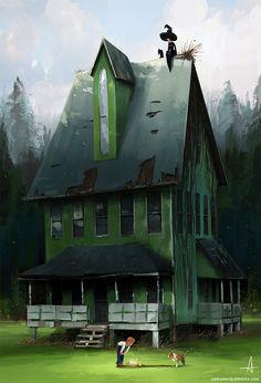 witch house , Adrianna Glowacka on ArtStation at https://www.artstation.com/artwork/m6EOZ