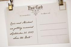 Vintage Paris Postcard Save the Date