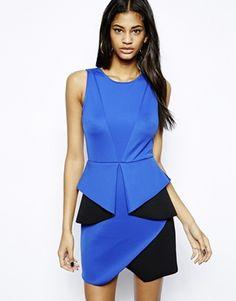 ASOS Origami Bonded Mini Dress