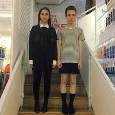 Pugsley + Wednesday Addams costume #americanapparel #aahalloween