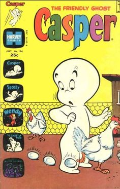 Casper the Friendly Ghost Series Harvey) comic books Vintage Comics, Vintage Ads, Comic Book Covers, Comic Books, Comic Book Publishers, Casper The Friendly Ghost, Pick Up Trash, Cute Pastel Wallpaper, Scary Faces