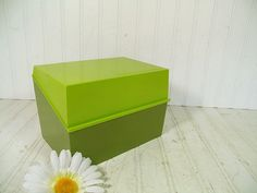 Vintage OverSized Two Tone Avocado Green Plastic by DivineOrders, $12.00