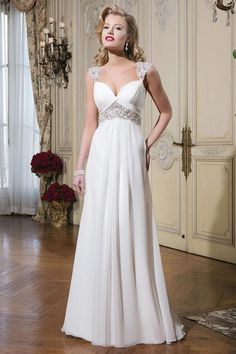 Justin Alexander Beaded Chiffon Dress, Wedding Dresses ...