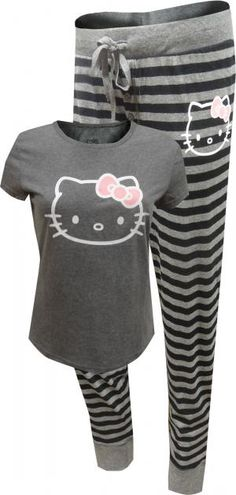 Hello Kitty Classic Gray Pajama Set 4066aeacb0
