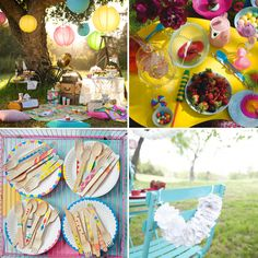 How to decorate a colorful picnic