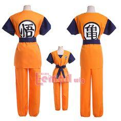 Pas cher Livraison gratuite deux Style enfants adultes Dragon Ball Z Son Goku Cosplay Costume, Acheter  Habits de qualité directement des fournisseurs de Chine:           Livraison gratuite Deux style Dragon Ball Z sangoku enfants adulte cosplay costume        Caractères  :