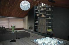 Dirk Cousaert project ; mooie maatwerk kast met staal en oud eiken hout #meubels