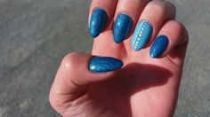 #blue #my #nails #crystal