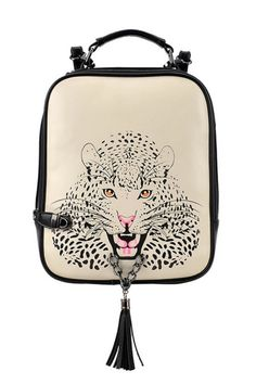 Vintage Leopard Print Shoulder Bag